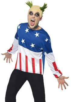Mens Party Starter Prodigy Keith Fancy Dress Music Costume by Smiffys for sale online 90s Party, Disco Party, Halloween Party, Halloween Costumes, Christmas Costumes, Party Shop, Party Time, Pop Star Fancy Dress, Funny Fancy Dress