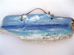 Lake Painting on Driftwood, Painted Driftwood, Lake, Natural Decor, Ocean Art, Beach Decor, Nautical,  by gardenstones on etsy by gardenstones on Etsy https://www.etsy.com/listing/178962916/lake-painting-on-driftwood-painted
