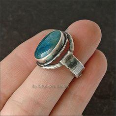 Strukova Elena - copyrights jewelry - ring with apatite