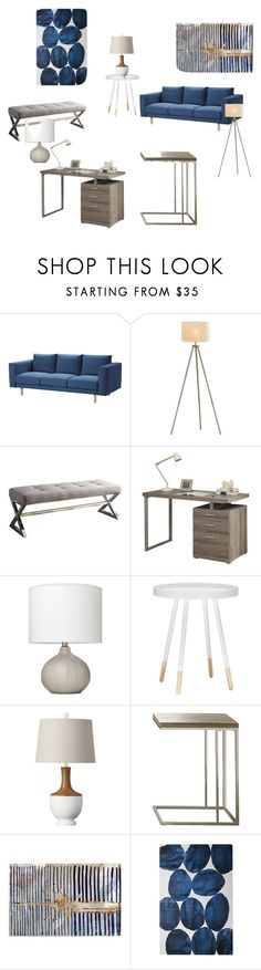 """""""Office Look 4"""" by jessicacrain on Polyvore featuring interior, interiors, interior design, home, home decor, interior decorating, Threshold and Oliver Gal Artist Co."""
