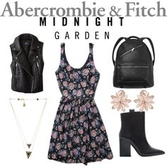 """""""Inspired by Midnight Garden: Abercrombie & Fitch Contest Entry"""" by chichihayari on Polyvore"""