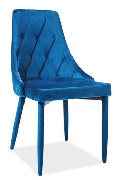 Scaun tapitat din catifea Trix Velvet Blue #homedecor #interiordesign #inspiration #homedesign #velvet #blue #colors #decor #house Blue Velvet, Accent Chairs, House Design, Interior Design, Inspiration, Furniture, Blue Colors, Home Decor, Products