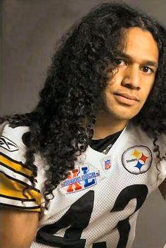 Celeb curly: Troy Polamalu.