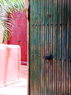 The colours across these doorways are heavenly