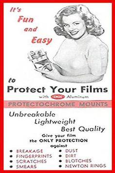 1946: Marilyn Monroe advert promoting how to protect film .... #normajeane #vintagemagazine #pinup #iconic #raremagazine #magazinecover #hollywoodactress #monroe #marilyn #1940s