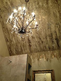 Incredible ceiling unto wall finish by Joyce Nelson