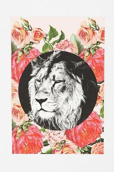 Floral Lion Poster. $24 from Urban Outfitters. This was meant for me!