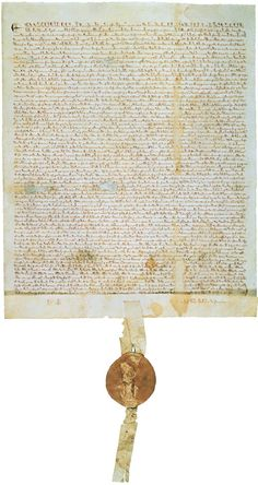 The Magna Carta, aimed at limiting the power of England's King John, was a seed for later democracy and included the idea of Habeas corpus.