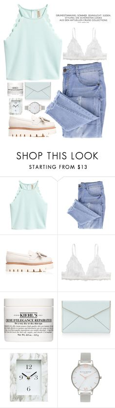 """Skie"" by fashionableforeign ❤ liked on Polyvore featuring Essie, Grenson, Monki, Kiehl's, Rebecca Minkoff, Chaney and Olivia Burton"
