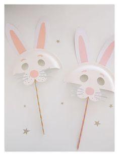 Osterhase /// DIY Pappteller Tiermasken - kroliki - DIY and Craft Crafts For Kids To Make, Easter Crafts For Kids, Toddler Crafts, Craft Kids, Easter Ideas, Bunny Crafts, Spring Crafts, Holiday Crafts, Holiday Ideas