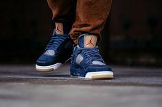 An On-Feet Look At The Levi's x Air Jordan 4 Denim