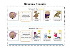 For the topic of Mystery and Adventure, used as a topic opener. A resource for children with little English language to access the lesson of solving myster. Eal Resources, Christmas Quiz, Mystery Stories, Learn English, English Language, Exercise, How To Plan, Learning, Children