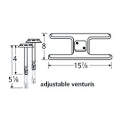 shop heavy duty bbq parts stainless steel burner with straight venturi set for kitchen brand gas grills at loweu0027s canada - Char Broil Gas Grill Parts