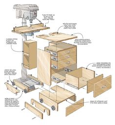The Right Woodworking Plans Make Woodworking Projects Easy - Adams Easy Woodworking Projects - Scrap wood projects that are enjoyable, easy and fast to make. ** Learn more by visiting the image - Woodworking Drill Press, Woodworking Table Plans, Woodworking Shop Layout, Woodworking Workbench, Woodworking Workshop, Easy Woodworking Projects, Fine Woodworking, Popular Woodworking, Woodworking Videos