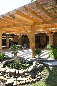 Beautiful Outdoor Living Space Timber Frame Pergola Texastimberframes