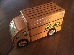 1 X Reese's Chocolate tin Delivery truck Empty Collectable 2016 Removable Lid  | eBay
