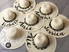 Sombreros personalizados para despedida de soltera www.idokits.com