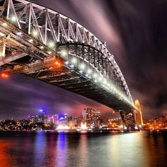 """Did you know? Sydney's famous Harbour Bridge is nicknamed """"the coat-hanger"""" thanks to its shape..."""