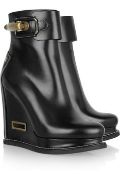 Jil Sander Leather wedge ankle boots