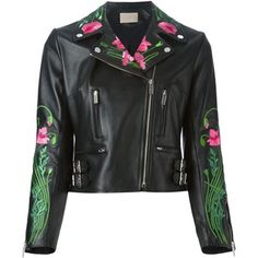 Christopher Kane floral embroidered biker jacket  check out my blog handlethisstyle.com