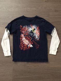 Graphic Long Sleeve Shirt (Boys Size 8)