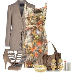 Vivienne Westwood Floral Dress, created by arjanadesign on Polyvore