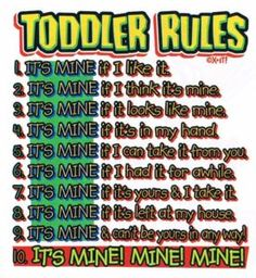 Don't mess with these rules.
