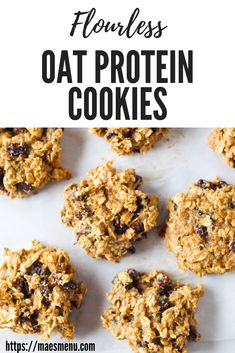 These oatmeal protein cookies are high on plant-based protein and flavor but use absolutely no wheat flour! They're perfect as a breakfast cookie or as a healthy snack. This recipe is also gluten free. Whip a batch up today. Oatmeal Protein Cookies, Protein Cookie Recipe, Oatmeal Breakfast Cookies, Breakfast Cookie Recipe, Healthy Oatmeal Breakfast, Healthy Cookie Recipes, Protein Snacks, Healthy Cookies, Breakfast For Kids