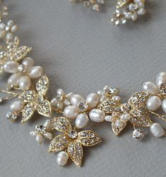 Fashion Jewelry Genteel Bridal/ Wedding/ Prom Delicate Red/ Clear Austrian Crystal Necklace And Drop Ear Jewelry & Watches