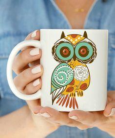 Love this Floral Owl Mug on #zulily! #zulilyfinds
