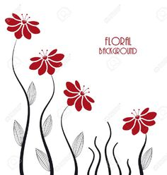 silhouettes of flowers on a white background is part of Stencil art - Illustration of silhouettes of flowers on a white background vector art, clipart and stock vectors Image 19140039 Stencil Painting, Fabric Painting, Stencil Designs, Paint Designs, Art Floral, Hand Embroidery Designs, Embroidery Patterns, Lotus Flower Art, Sampler Quilts