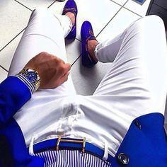 men's fashion suits for business wardrob Blue Blazer Outfit Men, Blazer Outfits Men, Stylish Mens Outfits, Blazer Fashion, Men's Fashion, Casual Outfits, Stylish Man, Feminine Fashion, Purple Fashion