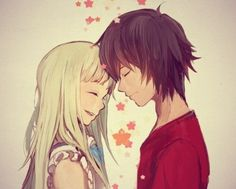 Menma x Jinta - Anohana I recommend this anime to you guys! Manga Couples, Cute Anime Couples, Manga Anime, Manga Art, Manga Love, Anime Love, Sad Anime, Steven Universe, Anohana