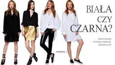 Kochamy ten styl!  Koszula biała - FORHEN: http://www.saltandpepper.pl/koszulo-sukienka-oversize-biala.html  Koszula czarna: http://www.saltandpepper.pl/koszulo-sukienka-oversize-czarna.html