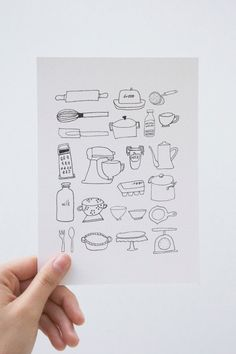 Mini Kitchenware Print by Rosemary Paper Co by rosemarypaperco