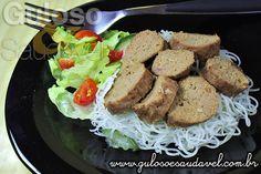 Salsichão de Carne Moída » Carnes, Receitas Saudáveis » Guloso e Saudável