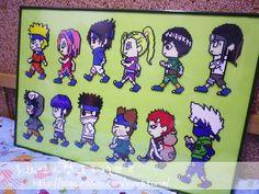 Naruto characters perler beads by Ryoko