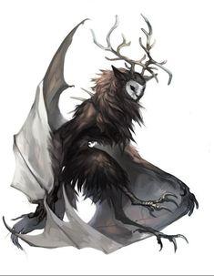 Dark Creatures, Mythical Creatures Art, Mythological Creatures, Magical Creatures, Humanoid Creatures, Cute Fantasy Creatures, Dark Fantasy Art, Fantasy Kunst, Fantasy Artwork