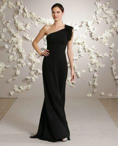 Love the one shoulder. bridesmaid dresses
