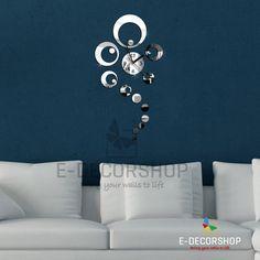 AuBergewohnlich Rings Spiegel Wanduhr   Wall Clock Mirror For Modern Home Design | EBay