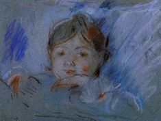 Child In Bed Wood Print by Morisot Berthe. All wood prints are professionally printed, packaged, and shipped within 3 - 4 business days and delivered ready-to-hang on your wall. Mary Cassatt, Renoir, French Impressionist Painters, Berthe Morisot, True Art, Vintage Artwork, French Art, A4 Poster, Paintings For Sale