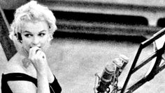 Marilyn recording songs for Let's Make Love in 1960.