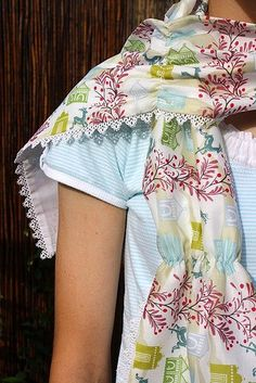 Voile scarf for summer