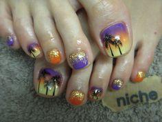 Toenails by ☆niche☆ Pedicure Nail Art, Toe Nail Art, Pedicure Ideas, Love Nails, Fun Nails, Kathy Nails, Toenail Art Designs, Painted Toes, Kawaii Nails