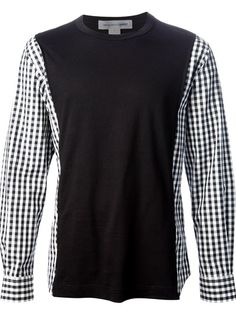 COMME DES GARÇONS SHIRT Contrast Sleeve Shirt  {{don't really care for this but gives me an idea}}