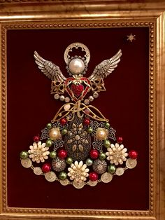Vintage jewelry snowman in frame Find this Pin and more on Reborn Jewelry. Jewelry Art Snowman Snowing at Night Christmas decoration with pearls - Dale Details To go with the jeweled Christmas tree I have. Design Engagement Ri - February 08 2019 at Maybe Costume Jewelry Crafts, Vintage Jewelry Crafts, Handmade Jewelry, Jeweled Christmas Trees, Christmas Angels, Snow Angels, Jewelry Frames, Jewelry Tree, Jewelry Ideas