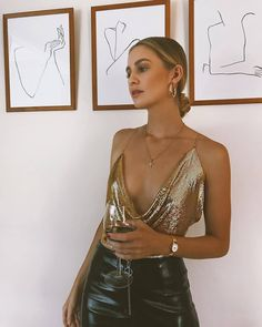 Street Style trends : streetstyleplatform: ASOS DESIGN sequin cami with strap detail streetstyleplatform: ASOS DESIGN sequin cami with strap detail Moda Outfits, Club Outfits, Night Out Outfit, Night Outfits, Casual Party Outfit Night, Summer Outfit, Look Fashion, Fashion Outfits, Fashion Trends