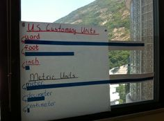 Everyday Math-Grade 2 Metric unit v.s. US Customary units visual