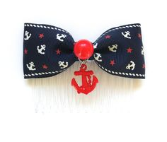 Rockabilly Sailor Doll Stars and Red Anchor Hair by PunkUpBettie