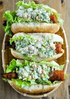 Perritos calientes vegetales | #Receta de cocina | #Vegana - Vegetariana ecoagricultor.com